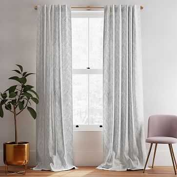 "Fragmented Lines Curtain, Set of 2, Black 48""x84"" - West Elm"