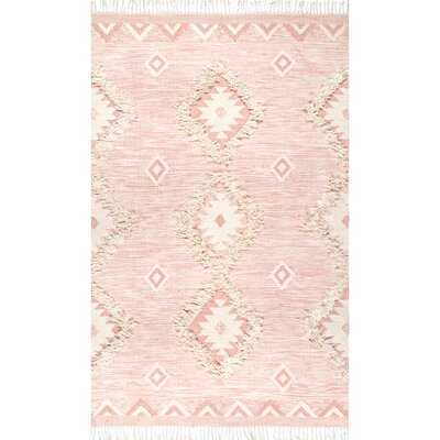 Crayford Hand-Knotted Wool Pink Area Rug - Wayfair