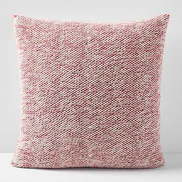 """Sweater Pillow Cover, 24""""x24"""", So Red - West Elm"""