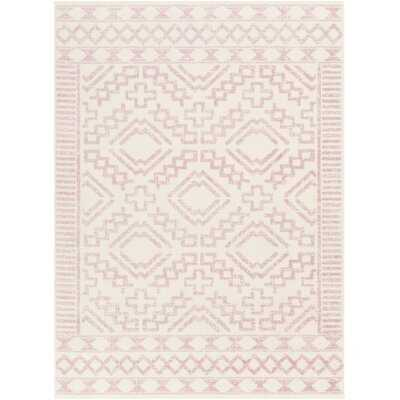 Windley Oriental Distressed Power Loom Pale Pink/Cream Rug - Wayfair