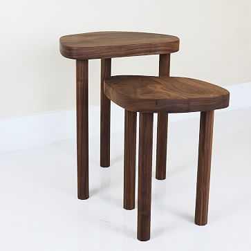 Joon Nesting Tables, Walnut, Set of 2 - West Elm