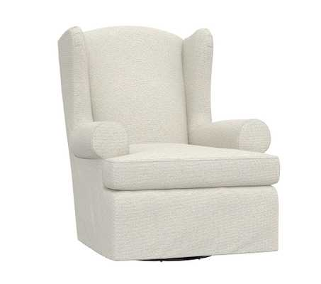Slipcovered Wingback Glider, Performance Boucle, Oatmeal - Pottery Barn Kids