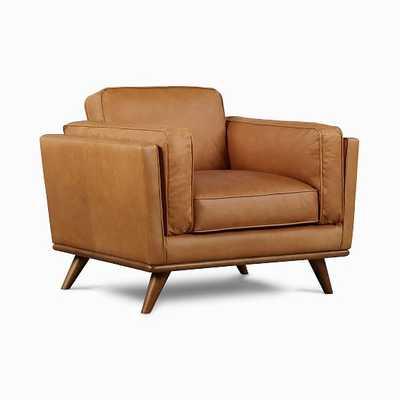 Zander Chair Tan Charme Leather Almond - West Elm