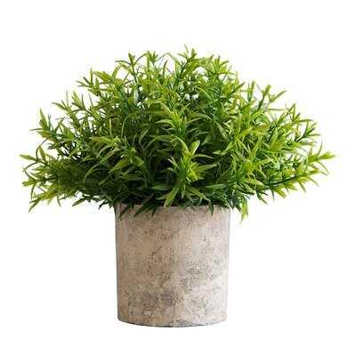 "7"" Artificial Herbs Plant in Pot - Wayfair"