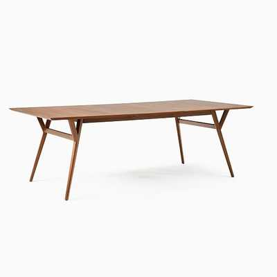 Extra Wide Mid Century Dining Table, Walnut, - West Elm