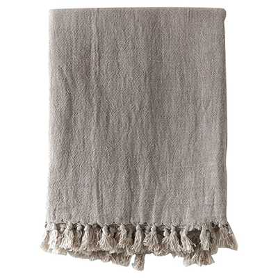 Pom Pom French Country Montauk Blanket - Natural King - Kathy Kuo Home