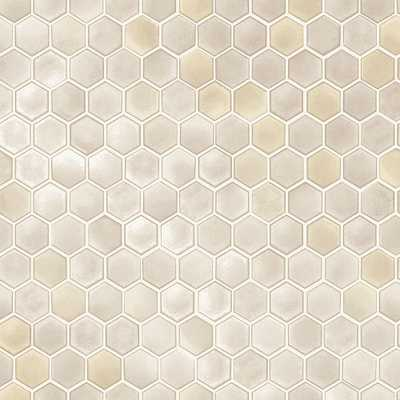 Tempaper Hexagon Tiles Champagne Self-Adhesive, Removable Wallpaper 56 sq. ft., Beige - Home Depot