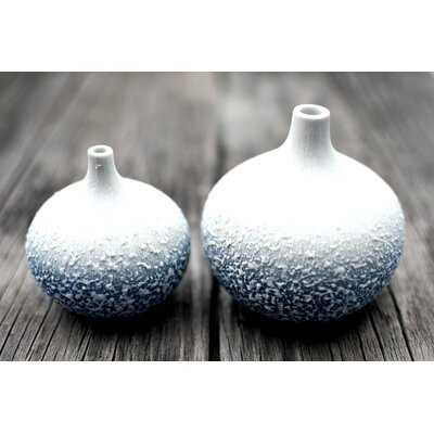 2 Piece Ashmore Porcelain Table Vase Set - Wayfair