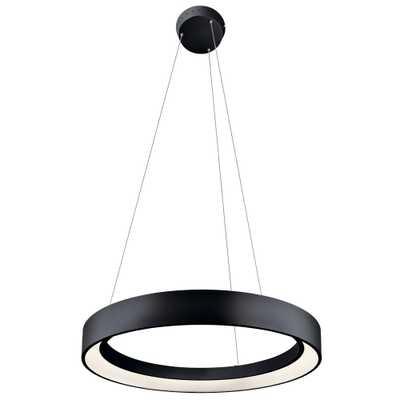 KICHLER Elan Fornello 60-Watt Integrated LED Textured Black Pendant - Home Depot