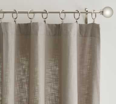 "Seaton Textured Cotton Rod Pocket Blackout Curtain, 50 x 108"", Dark Flax - Pottery Barn"