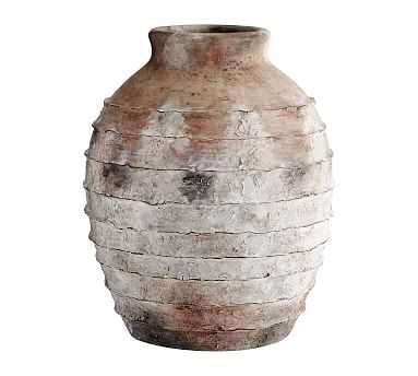 Artisan Vase, Natural - Ribbed - Pottery Barn