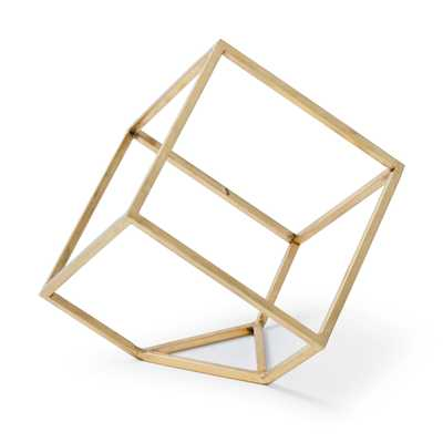 Regina Andrew Modern Classic Open Standing Brass Steel Cube - Kathy Kuo Home