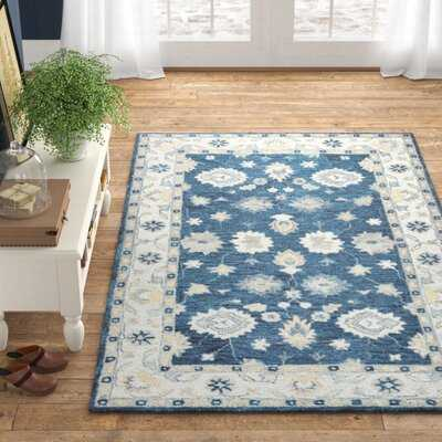 Daphne Oriental Hand-Tufted Wool Blue/Beige Area Rug - Birch Lane