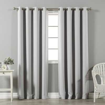 Clements Solid Blackout Thermal Grommet Curtain Panels - Birch Lane