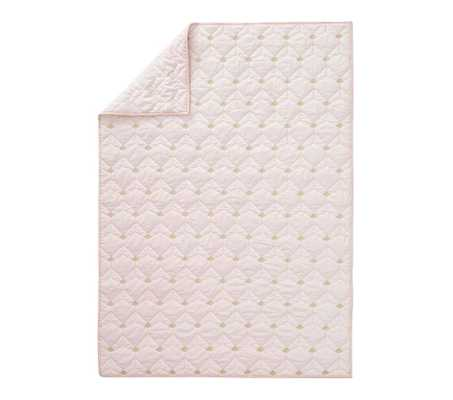 Coco Toddler Quilt, Blush - Pottery Barn Kids