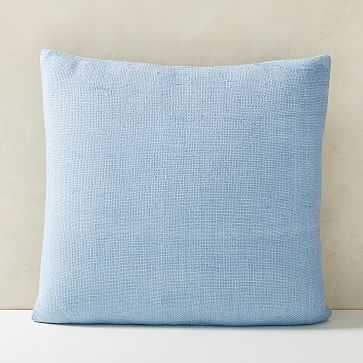 "Silk Handloomed Pillow Cover, 20""x20"", Blue Bird - West Elm"