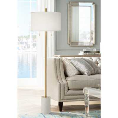 Milan Modern Floor Lamp with Marble Base - Style # 88P05 - Lamps Plus