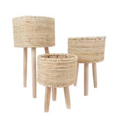 3 Piece Seagrass Basket Set - Wayfair