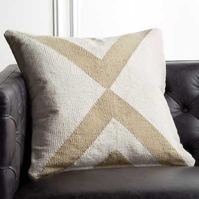 "23"" Xbase Natural Tonal Pillow with Down-Alternative Insert - CB2"