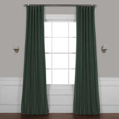 Exclusive Fabrics & Furnishings Pine Forest Green Gray Bellino Blackout Curtain - 50 in. W x 120 in. L (1-Panel) - Home Depot