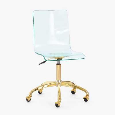 Mint Acrylic Swivel Desk Chair - Pottery Barn Teen