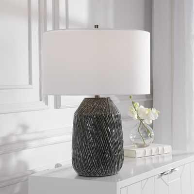 Malaya Graphic Black Table Lamp - Hudsonhill Foundry
