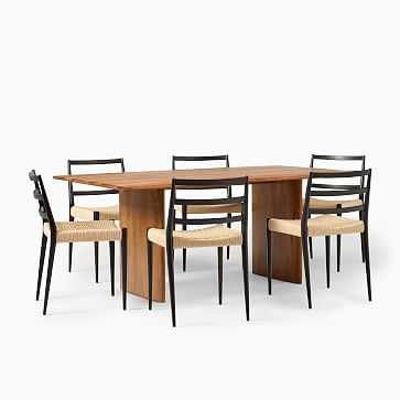 "Anton Solid Wood Dining Table (72"") + 6 Holland Chairs - West Elm"