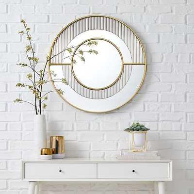 Helena Round Fluted Glass Mirror - West Elm