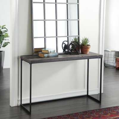 Corneau Metal and Wood Console Table - Wayfair