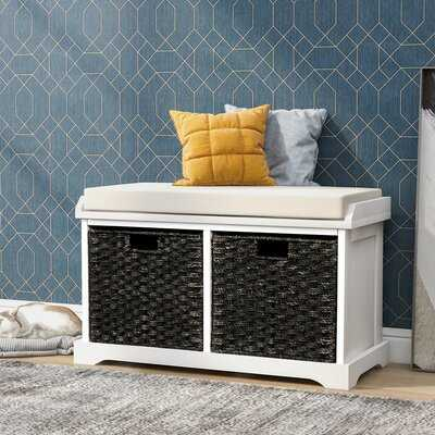 Entryway Storage Bench With 2 Removable Wicker Baskets - Wayfair