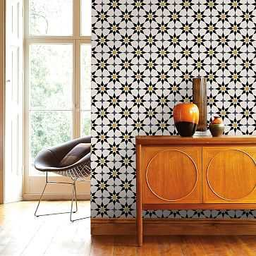 Peel & Stick Soleil Wall Paper, Moroccan Spice - West Elm