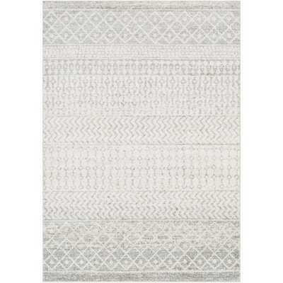 Leonard Geometric Light Gray/Medium Gray/White Area Rug - Wayfair