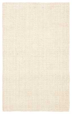 Tyne Natural Solid Ivory Area Rug (8'X10') - Collective Weavers