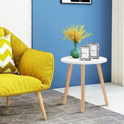 Small Modern Round Coffee Tea Side Table - Wayfair