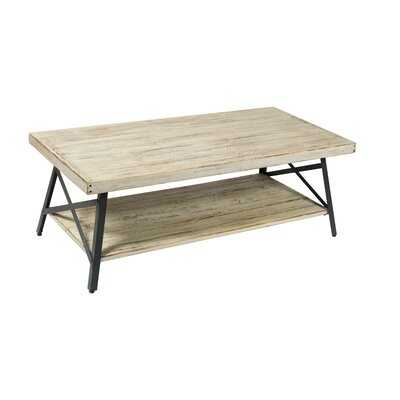 Kinsella Solid Wood 4 Legs Coffee Table with Storage - Wayfair