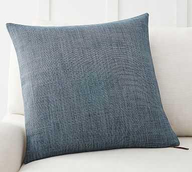 "Belgian Linen Pillow Cover/ Midnight / 20"" x 20"" - Pottery Barn"