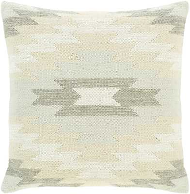 "Jabari Pillow Cover, 20""x 20"", Ivory - Roam Common"