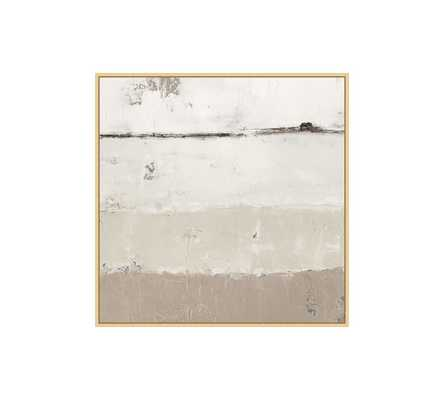 "Out to Sea Framed Canvas, Neutral, Small - 28"" x 28"" - Pottery Barn"