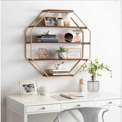 Kennesaw 5 Piece Hexagon Solid Wood Floating Shelf - Birch Lane