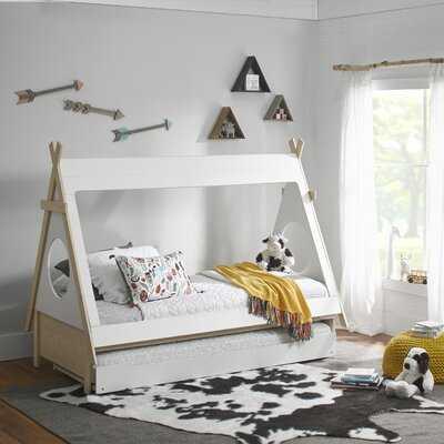 Sahara Triangular Play Tent Twin Bed with Trundle - Wayfair