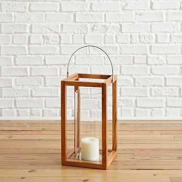Simple Wood Lanterns, Large, Teak - West Elm