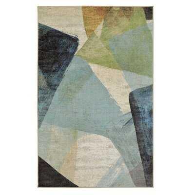 Niven Transparent Blue/Gray Area Rug - Wayfair