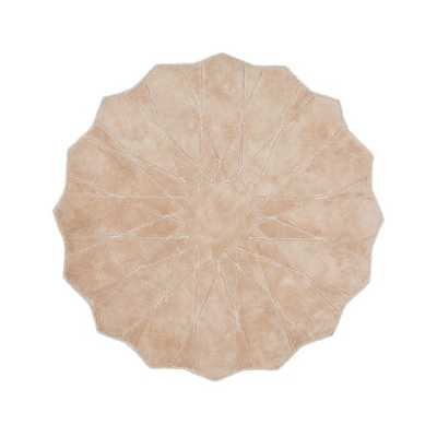 5' Pink Scalloped Round Rug - Crate and Barrel