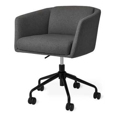 Gus* Modern Radius Powder Coat Task Chair Upholstery Color: Stockholm Graphite - Perigold