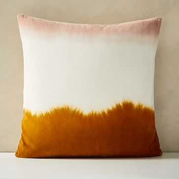 "Dip Dye Pillow Cover, 20""x20"", Rustic Orange - West Elm"