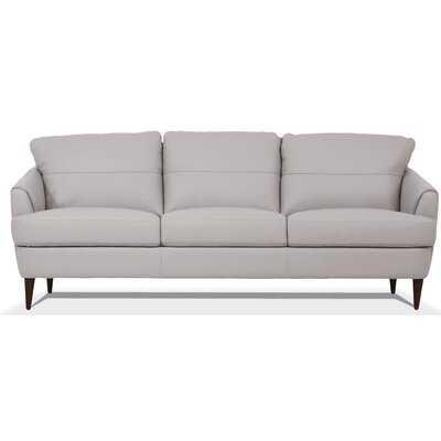 "Bexton Leather 83"" Flared Arm Sofa - Wayfair"