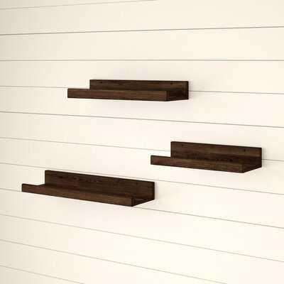 Aylesbury 3 Piece Pine Solid Wood Floating Shelf - Birch Lane