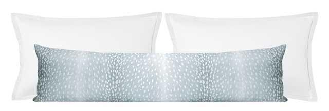 "The XL Lumbar :: Antelope Linen Print // Spa Blue - 14"" X 48"" - Little Design Company"