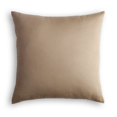 """Camel Velvet Taupe - 20"""" x 20"""" , with Poly insert, no trim"""