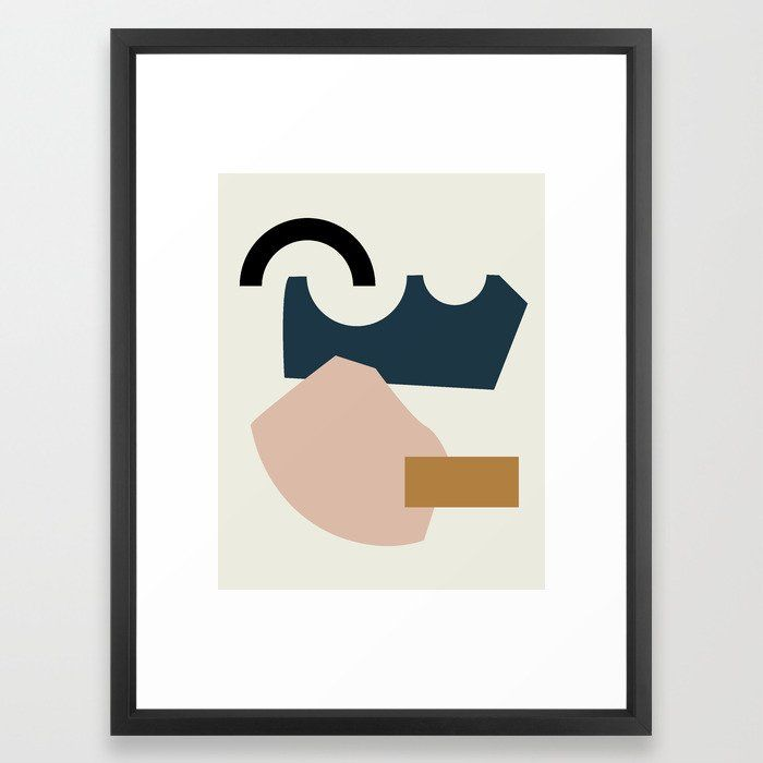 Shape Study #29 - Lola Collection Framed Art Print by mpgmb